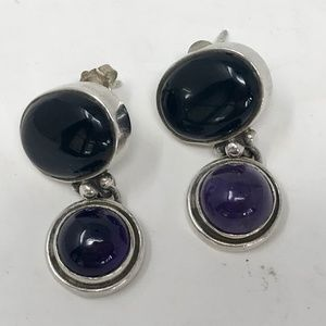 Jewelry - Sterling Silver and Amethyst Earrings